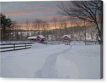 Path To The Barn Canvas Print by Fran J Scott