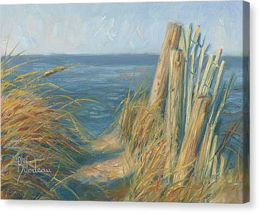 Path To The Beach Canvas Print by Lucie Bilodeau