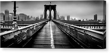 Path To The Big Apple Canvas Print by Az Jackson