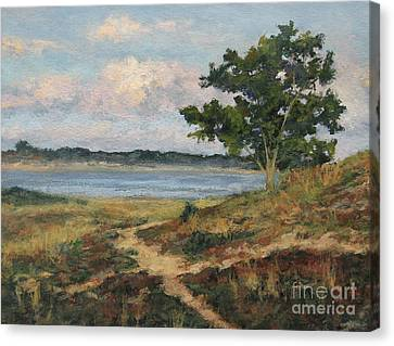 Path To The Harbor Canvas Print by Gregory Arnett