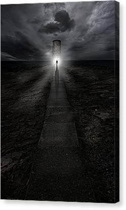 Path To The Lightouse Canvas Print by Jaroslaw Blaminsky