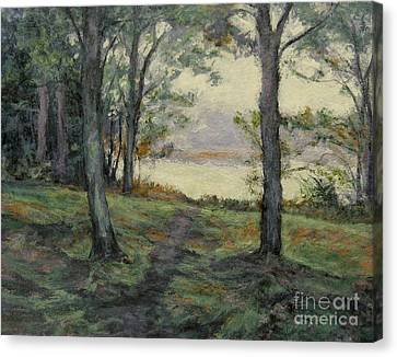 Path To The Pond / Early Morning Canvas Print by Gregory Arnett