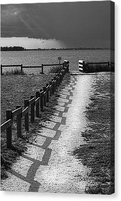 Pathway To The Beach Canvas Print by Marvin Spates