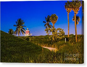 Pathway To The Beach Canvas Print by Rene Triay Photography