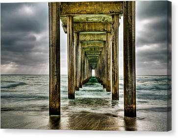 Pathway To The Light Canvas Print by Aron Kearney