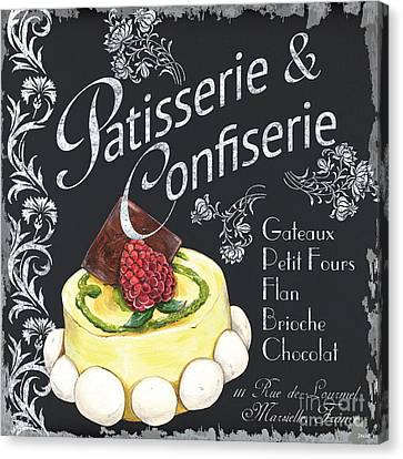 Patisserie And Confiserie Canvas Print by Debbie DeWitt
