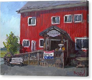 Patricia's Back Barn Canvas Print by Ylli Haruni