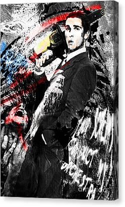 Patrick Bateman - American Psycho Canvas Print by Ryan Rock Artist