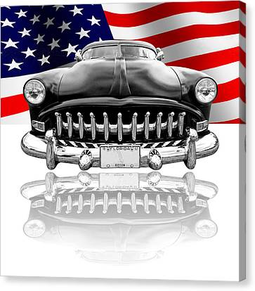 Patriotic Hudson 1952 Canvas Print by Gill Billington