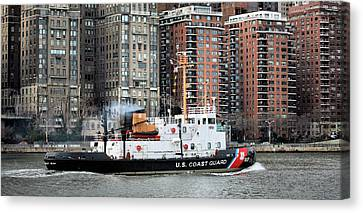 Patrolling The East River Canvas Print by JC Findley