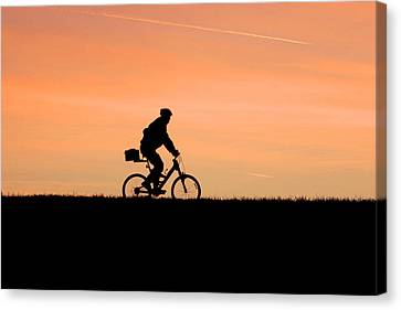 Patrolling The Levee Canvas Print by Gene Walls