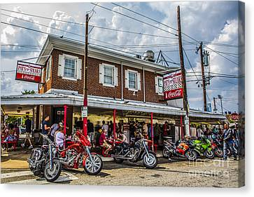 Pat's King Of Steaks Canvas Print by Diane Diederich