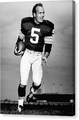 Paul Hornung Poster Canvas Print by Gianfranco Weiss