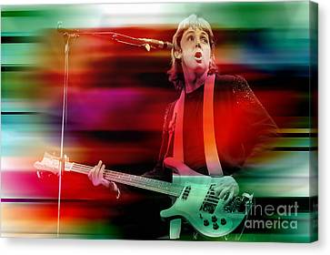 Paul Mccartney Then And Now Canvas Print by Marvin Blaine