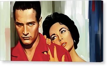Paul Newman Artwork 3 Canvas Print by Sheraz A