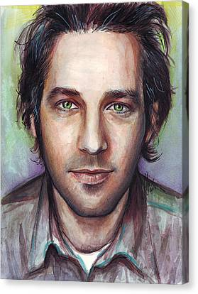 Paul Rudd Portrait Canvas Print by Olga Shvartsur