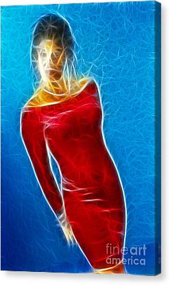 Paula Velvet Vison Fractal Canvas Print by Gary Gingrich Galleries