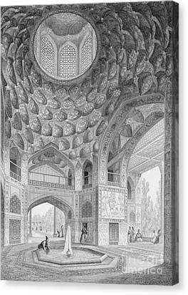 Pavilion Of The Eight Paradises Canvas Print by Pascal Xavier Coste