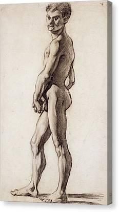 Male Nude Canvas Print by Paul Cezanne
