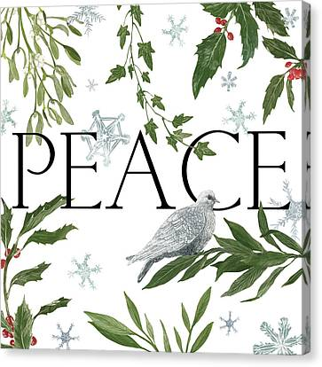 Peace And Joy I Canvas Print by Sara Zieve Miller