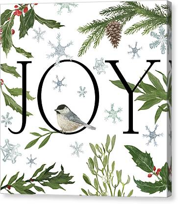 Peace And Joy II Canvas Print by Sara Zieve Miller