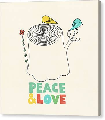 Peace And Love Canvas Print by Eric Fan