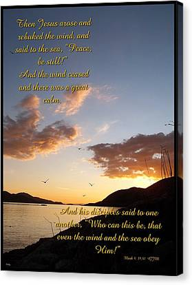 Peace Be Still Canvas Print by Glenn McCarthy Art and Photography