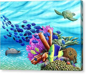 Peace Coral Canvas Print by Carolyn Steele