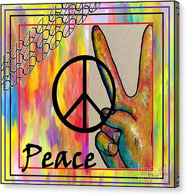 Peace In Every Color Canvas Print by Eloise Schneider