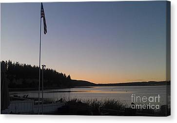 Peace On Camano Canvas Print by Bruce Borthwick