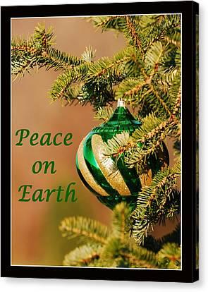 Peace On Earth Canvas Print by Francie Davis