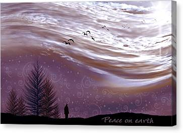 Peace On Earth Canvas Print by Holly Kempe