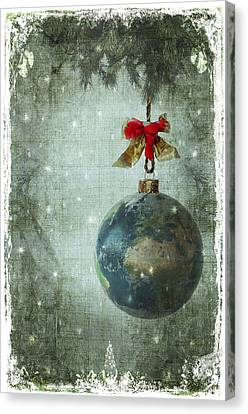 Peace On Earth Canvas Print by Marie  Gale
