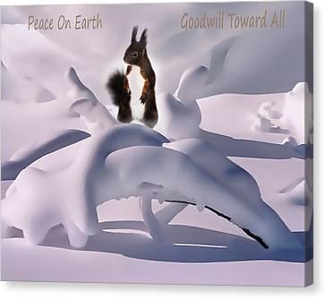 Peace On Earth Canvas Print by Terril Heilman
