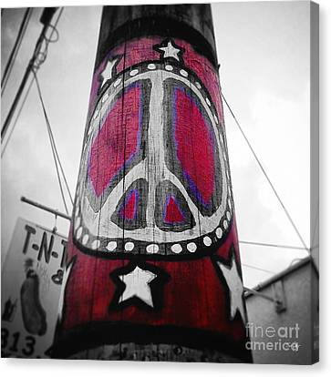 Peace Pole Canvas Print by Scott Pellegrin