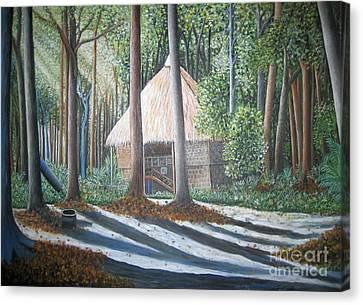 Peaceful Abode Canvas Print by Usha Rai