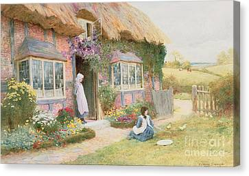 Peaceful Afternoon Canvas Print by Arthur Claude Strachan