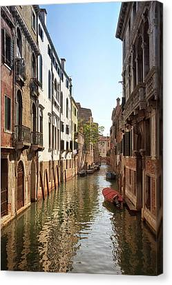 Peaceful Canal Canvas Print by Kim Andelkovic