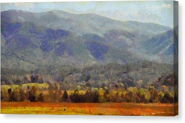 Peaceful Morning In The Smoky Mountains Canvas Print by Dan Sproul