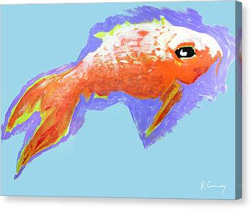 Peaceful Orange Goldfish Canvas Print by Robert Conway