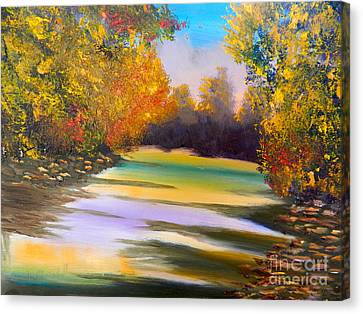 Peaceful River Canvas Print by Pamela  Meredith