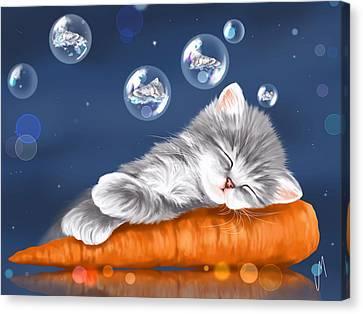 Peaceful Sleep Canvas Print by Veronica Minozzi