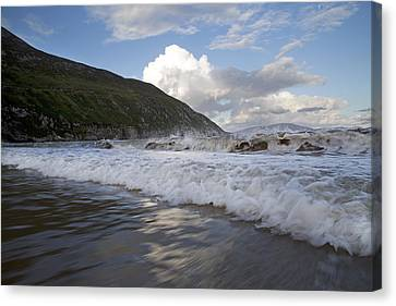 Peaceful Wishes Keem Beach Ireland Canvas Print by Betsy C Knapp