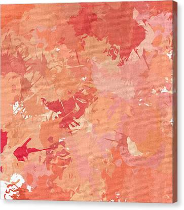 Peach Galore Canvas Print by Lourry Legarde