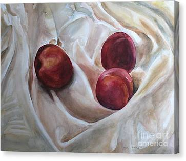 Peaches Canvas Print by Kyong Burke