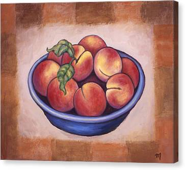 Peaches Canvas Print by Linda Mears
