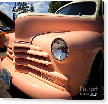 Peachy Canvas Print by Cheryl Young