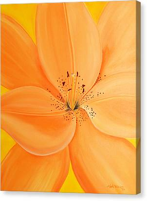 Peachy Summer Canvas Print by Maria Williams