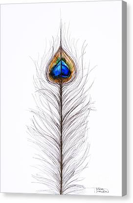 Peacock Abstract Canvas Print by Tara Thelen