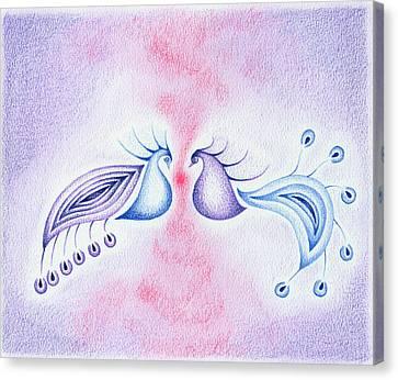 Peacock Dance Canvas Print by Keiko Katsuta